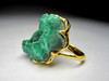 Golden Ring with Malachite