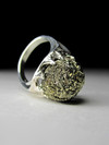 Ring with a pyrite rose