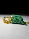 Gold pendant with malachite