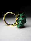 Ring with malachite gold