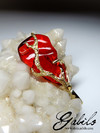 Fire opal gold pendant