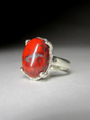 Ring with red jasper