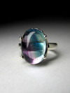 Silver Ring with Fluorite