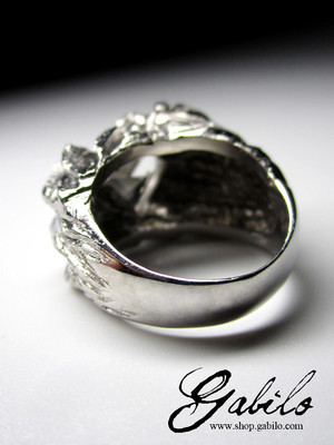 Rock Crystal Silver Ring