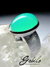 Silver ring with chrysoprase