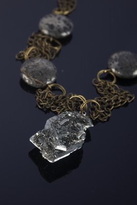 Necklace with marcasite and pyrite