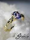 Tanzanite Gold Ring with Gem Report MSU