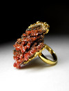 Ring with vanadinite gilding