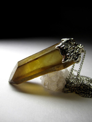 Citrine in silver natural