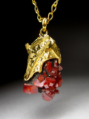 Pendant with vanadinite