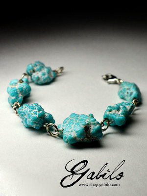 Bracelet with turquoise natural