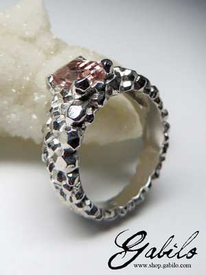 Tourmaline Silver Ring with Gem Report MSU