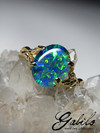 Triplet opal gold ring