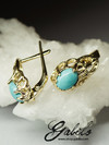 Turquoise Gold Earrings with Jewellery Report MSU