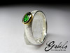 Chrome Diopside Silver Ring with gem report MSU