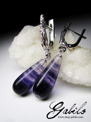 Fluorite Silver Earrings