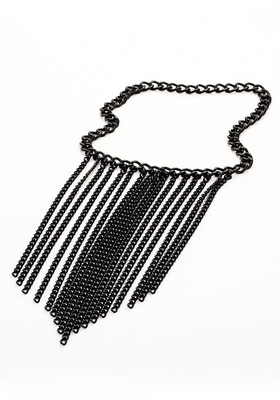 Black chain decoration