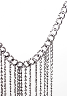 Silver chain decoration