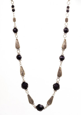 Jewelry Black from Glass and Metal Beads