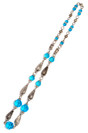Decoration Blue from Glass and Metal Beads