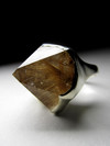 Certified statement silver ring with a rutilated quartz