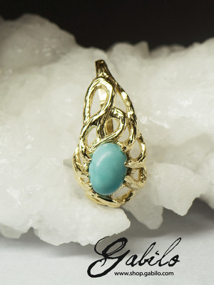 Turquoise Gold Pendant with Jewellery Report MSU