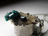 Pendant with dioptase in silver