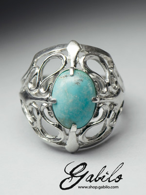 Silver turquoise ring with Jewelry Report MSU