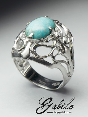 Turquoise Silver Ring with Jewelry Report MSU