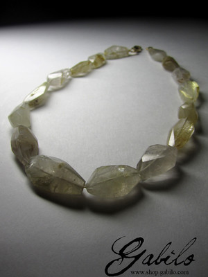 Necklaces of hairworm quartz