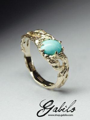Turquoise Gold Ring with Jewelry Report MSU