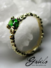 Chrome diopside gold ring with Jewelry Report MSU