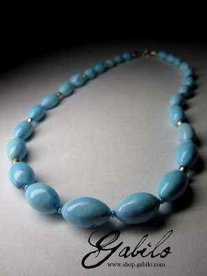 Beads from turquoise Kazakhstan top grade