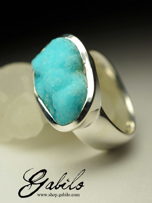 Ring with hemimorphite