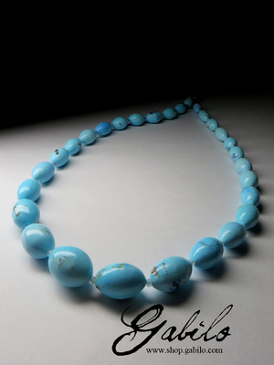 Beads from turquoise highest grade