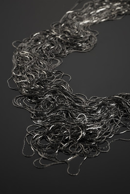 Decoration from 100 Meters of Fine Metallic Thread Black