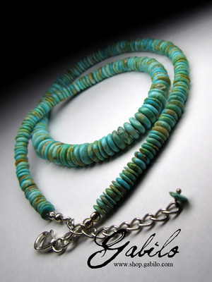 Necklace from turquoise Arizona