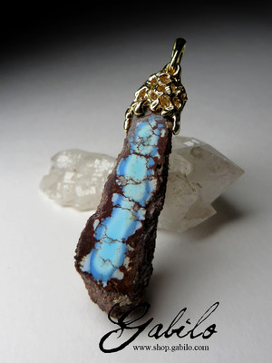 Turquoise Gold Pendant