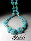 Beads of turquoise nuggets Arizona