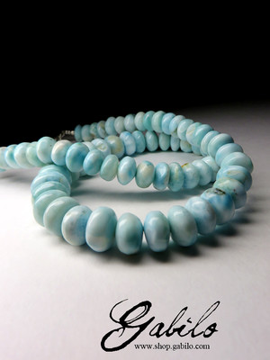 Large beads from the larimar