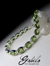 Silver bracelet with chrysolite