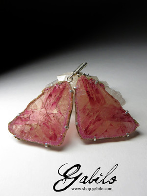 Slices Polychrome Tourmaline Earrings
