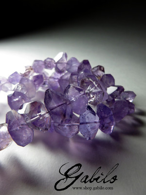 Amethyst Crystals Beaded Necklace