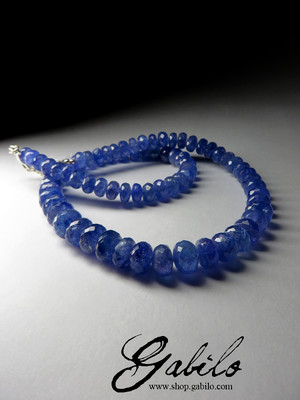 Beads from tanzanite first grade