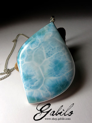Large pendant with larimar
