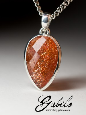 Made to order: Aventurine sunstone gold pendant