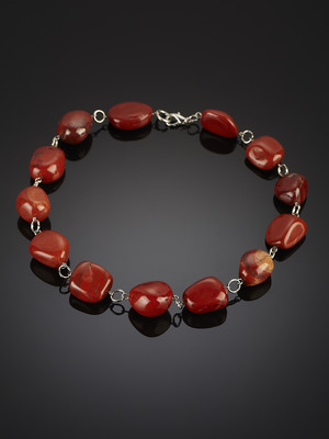Beads of red jasper African