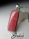 Pendant with Rhodochrosite Rectangle