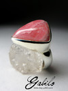 Ring with Rhodochrosite Triangle