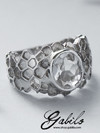 Rock Crystal Silver Ring with gem report MSU